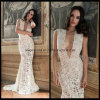 Sexy V-Neck Wedding Dresses Lace Mermaid Bridal Evening Gowns Z1036