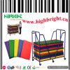 Gym Steel Tube Storage Cart Metal Mat Trolley