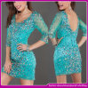 New Super Sexy Charming Green Tulle Crystal Celebrity Bandage Dress
