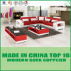 China Living Room Genuine Leather Sofa Bed