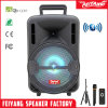 "Mobile Speaker Built-in Colourful LED Light Battery 8"" Mini HiFi Portable Speaker with Bluetooth Wireless Mic Cheap Popular Hot Portable Sound Multimed Box"