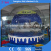 Outdoor Giant Inflatable Snow Globe for Christmas Events Human Showing Globe