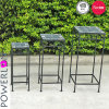 S/3 Mosaic Square Planter Stand with Pl08-5715