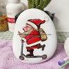 Santa Claus Patten Paint Pebble Stone as Christmas Gift