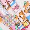 Monkey&Squirrel Cartoon Printed 250GSM Canvas Fabric