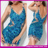 2014 The Luxury Nude Crystal Sexy Strap Evening Dress