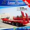 2 Axles 40tons Flatbed Low Bed Semi Truck Trailer