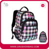Chequer Kids School Bag with Plaid Floral Printed