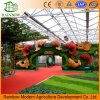 Glass Greenhouse for Ecological Restaurant and Vegetable Sightseeing Garden