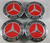 Wheel Center Caps Emblem Hubcap for Mercedes Benz Red
