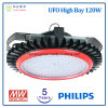 5 Years Warranty 120W UFO High Bay LED Light with Philips LED Chip and Meanwell Power Supply