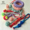 Striped Cotton Rope Slippers Dog Tooth Cleaning Toys