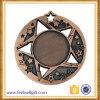 OEM Star Shape Metal Blank Medal with Customer 3D Logo Engraving