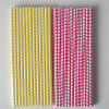 Yellow Hot Pink Color 100% Eco-Friendly Paper Straws for Party