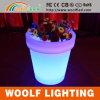 PE Plastic Decorative LED Light Flower Vase