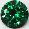 Diamond Cut Round Shape 3mm Emerald Cubic Zirconia