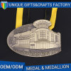 Unique design 3D Building House Medal Museum Souvenir Gift