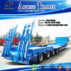 Aotong 60tons Low Bed Platform Semi Trailer with Side Wall