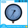 150mm Black Steel Case Bottom Connection High Precision Pressure Gauge