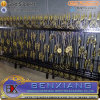 Chinese New Mondern Cheap Wrought Iron Security Gates Galvanized Power Coating Steel Pipes Fence