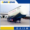 Three Alxes Powder Material Tank Transport Semi Trailer with Air Compressor