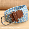 Knitted Mix Color Elastic Webbing Men Belt