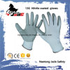 13G Nylon Line Palm Gary Nitrile Smooth Coated Glove