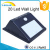 2W 20LED Lamp Solar Wall Energy Saving Light with Light and Motion Sensor SL1-38-20