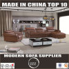 Modern Sectional Leather Sofa Brown Lz610