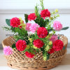 Cheap Artificial Ball Chrysanthemum Flower Bouquet with 5branches&15heads