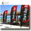 Customized Fiberglass Pole Teardrop Beach Feather Flying Flag (SU-FG28)