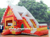 Inflatable Santa Bouncy Slide Combo for Christmas, Christmas Jumping Bouncer