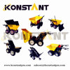 Powder Coated Motor Power Electric Mini Dumper Skid Steer