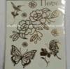 fashion Body Waterproof Metallic Temporary Tattoo Stickers