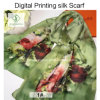 2017 New Design Digital Printed Shawls Fashion Lady Silk Scarf