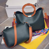 Hot Sale 2 in 1 Set Ladies Tote Bag with Color Collision Strap Handbags Sy7904