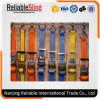 Polyester Webbing Material Adjustable Ratchet Cargo Strap with Endless Loop or Metel Hooks