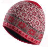 Fashion Red/Black and White Arabesquitic Knitted Beanie Hat