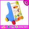 Rolling New Model Wooden Baby Walker, Baby Products Walking Trolley Toy, Wooden Educational Baby Walker W16e042