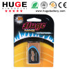 1.5V Aluminum Jacket Blsiter Pack Alkaline Battery (6LR61)