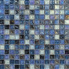 Blue Mixed Glazed Iridescent Kitchen Glass Mosaic Tile