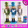 2015 Wooden Nutcracker Doll Toy for Kids, Colorful Cheap Sale Kids Wooden Doll, Promotional Wooden Doll Kids Christmas Toy W02A083