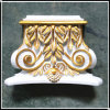 Factory Hand-Painted Decoration PU Exotic Corbels (HN-0XX)