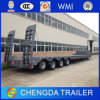 4axles 100ton Heavy Lowbed Semi-Trailer for Excavator Equipment Transport