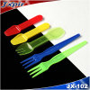 Wholesale Plastic Tableware Disposable Mini Fork (JX104)
