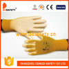 13gauge Orange Nylon Liner Coated White PU Work Gloves Dpu162