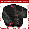 Custom Made Sheepskin Black Quilted Bomber Jacket Mens (ELTBQJ-529)