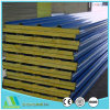 Fast Construction Easy Install Color Steel Rock Wool Sandwich Panel for Factory Mill/Plant/Workshop/ Building Roof/Wall