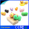 Lovely Rubber Cartoon Character Pig Shape USB Flash Drive