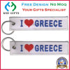 Customized I Love Greece Design Embroidery Design with Key Ring